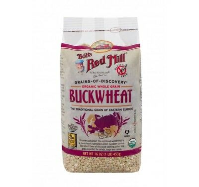 Bob's Red Mill Organic Gluten Free Buckwheat Groats - 16 oz - Case of 4