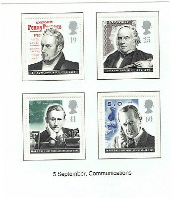GB 1995 Pioneers of Communications, Set of 4. SG1887-1890, UnMounted Mint