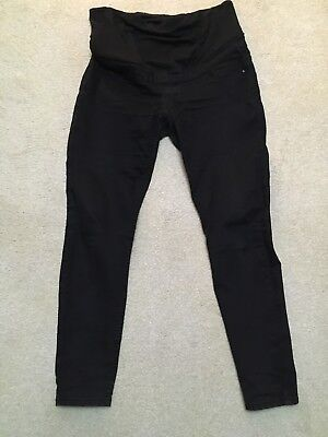 New Look Black Maternity Jeans Over The Bump Size 10