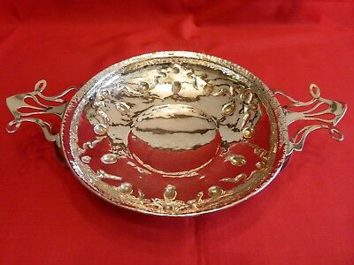 Superb 1908 Arts & Crafts / Art Nouveau Solid Silver Table Centre Bowl.stunning.