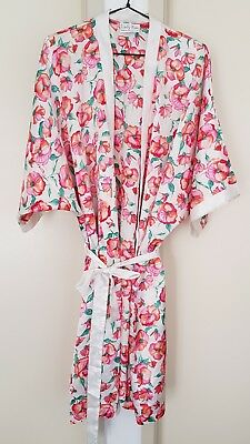 Women's Ladies - Lady Kae - Floral Print Dressing Gown - Size 16 - Made in Aust.