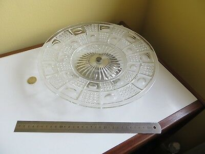 Vintage Retro Glass & Silver Plated Plate One Tier Cake Pie Stand Pedestal Base