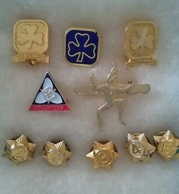 Vintage 10  GIRL GUIDE  BROWNIE SCOUT PINS ~ Lot #13