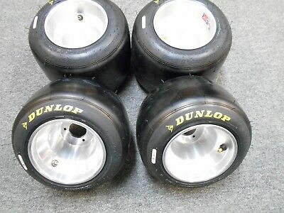 Gokart Racing Dunlop Slicks Set Of 4 New Mounted Wagon Bar Stool Trike