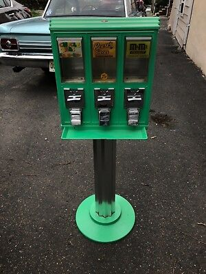 Vintage Triple Head Candy Vending Machine Vintage Rare! M&M's Reese's Pieces