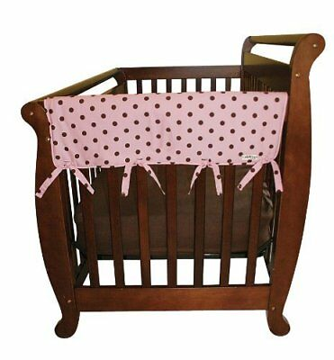 Trend Lab CribWrap Rail Covers for Crib (Set of 2), Pink/Brown Polka Dot F/S