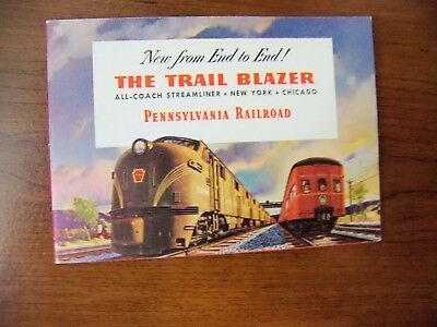The Trail Blazer of Pennsylvania Railroad brochure 1939