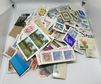 110grams of stamps from all over the world