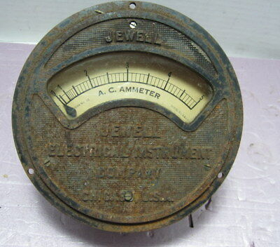 Jewel Electrical Instrument Company 0-5 Amp Meter-Ammeter