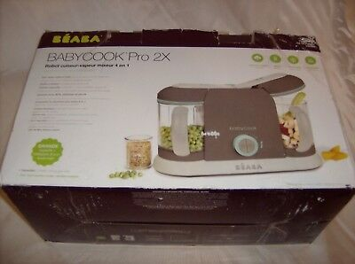New Beaba BabyCook Pro 2X 4 in 1 Baby Food Maker Steam Blend Defrost Reheat