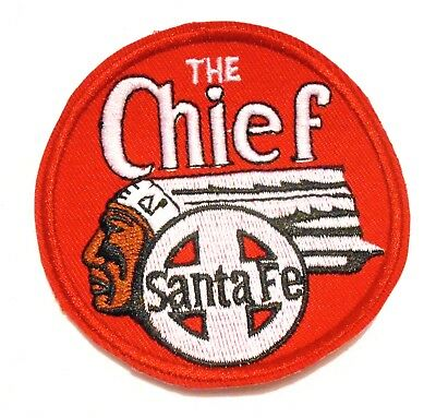 Santa Fe  Chief Embroidered Patch Train Railroad RED Railway RR  3 Inch
