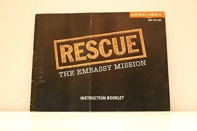 Rescue the Embassy Mission NES Video Game Manual Instructions Nintendo