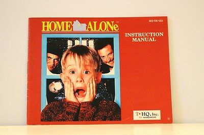 Home Alone NES Video Game Manual Instructions Nintendo