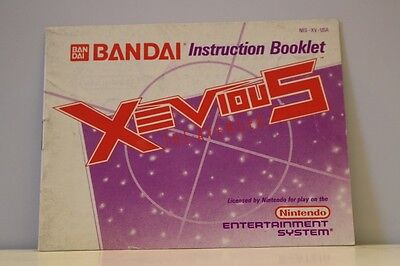 Xevious NES Video Game Manual Instructions Nintendo