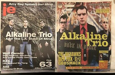 Illinois Entertainer Alkaline Trio zines Lot of Two 2008, 2003 Blink 182 record