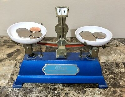Vintage Metal Compass Laboratory Balance Scale, Nice Condition