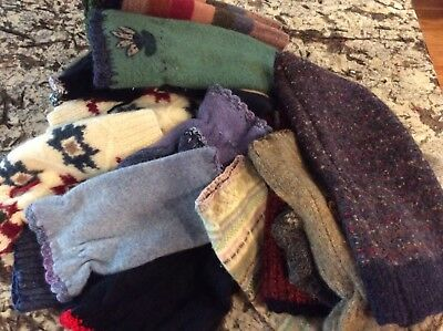 Huge 3 Pound Lot of Upcycled Recycled Wool Sweater Pieces for Wool Projects