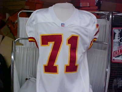 4905eafe848 2001 NFL Kansas City Chiefs Game Worn/Used Road Jersey Player #71 Size 46