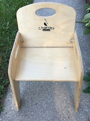 CHAIRRIES Jonti Craft Wooden Booster Seat High Chair W/o Straps No Tray 15