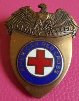 Wwii American Red Cross Military Welfare Hat Pin