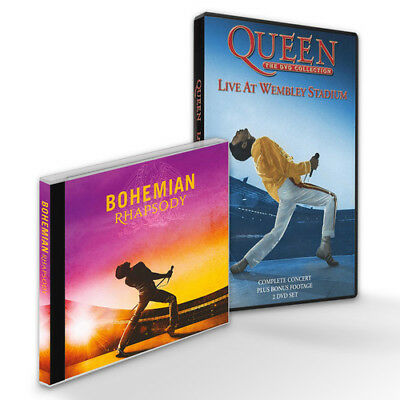 Bohemian Rhapsody Live At Wembley Bundle - Queen (2018, CD NUOVO) Dummypid