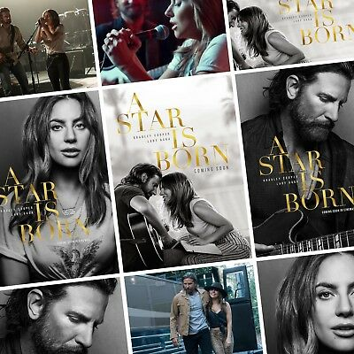 A STAR IS BORN Movie PHOTO Print POSTER Film Art 2018 Lady Gaga Bradley Cooper