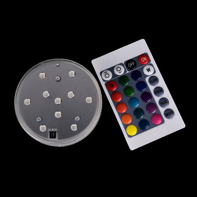 10led submersible light battery waterproof remote control bottle pond lighting F
