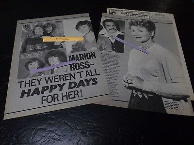 1979 Marion Ross Magazine Article Clipping They Weren't All Happy Days For Her