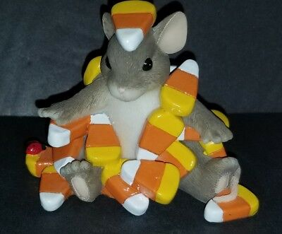 """Charming Tails By Fitz & Floyd  Figurine Candy Corn Caper"""" Excellent Condition"""