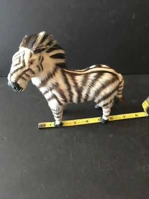 "VTG Real Fur ZEBRA 6.5""L x 7""H Fig."