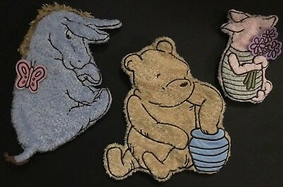 Classic Winnie the Pooh Piglet & Eeyore Nursery Wall Hanging Soft Chenille Plush