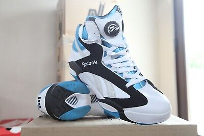 938ce3b7d157 Reebok Shaq Attaq Pump Shaquille Azure Blue Orlando Magic Size 10 V47915