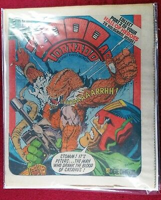 2000AD PROG 153 Dredd Blood of Satanus.  Top Sci Fi Movies Things to come. Pics