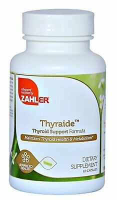 Natural Thyroid Supplement Support Thyroid Care Complex ~ Zahler 60 Caps