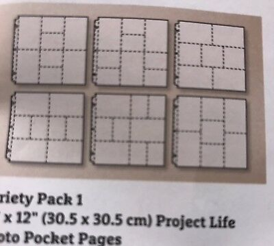Project Life By Becky Higgins For Stampin Up Photo Pockets Design 1 Variety Pack
