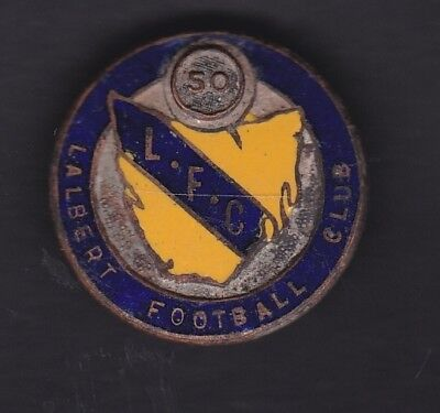 Tasmania . Lalbert football Club 1950 badge