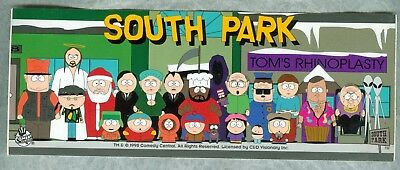 South Park Cast of Characters Bumper Sticker Decal 1998 Comedy Central