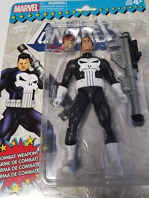 "Hasbro Marvel Legends Retro Toy Biz Series PUNISHER 6"" Action Figure"