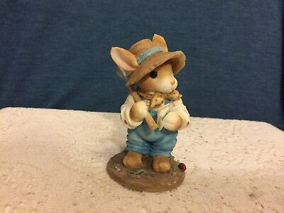 "1996 ENESCO MY BLUSHING BUNNIES Figurine ""FRIENDSHIP IS THE SEED OF LIFE"""