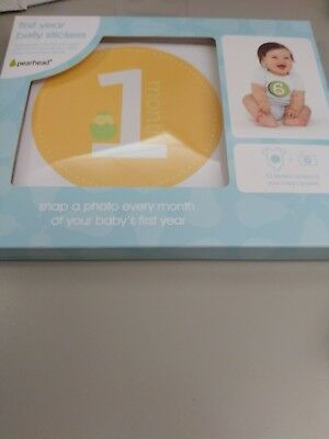 Baby's First Year Belly Stickers by Pearhead Unisex New