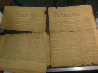 New York Tribune supplement to the newspaper of April 11 1891 - torn