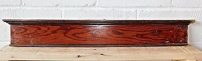 Antique Wooden Victorian PEDIMENT Lintel Header DOOR Trim Crown Molding ORNATE