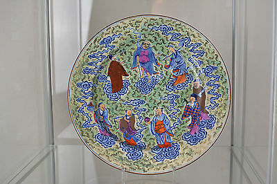 Beautiful Plate Eight Immortals Late 19th Century