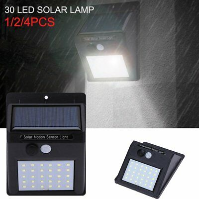 Wireless 20 LED Solar Powered Light Motion Sensor Outdoor Security Wall Lamp NEW