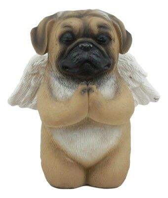 Angel Pug Dog Pet Memorial Statue Inspirational Heavenly Canine Figurine Statue