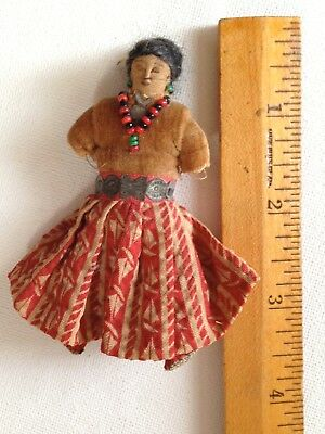 ANTIQUE Navajo Hand Made FOLK ART Cloth Doll Late 1800- Early 1900's