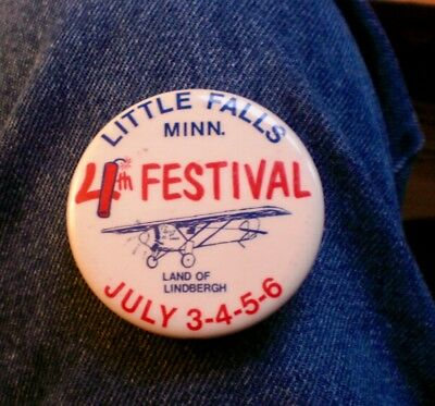 """1960's Little Falls, Mn. 4th Of July Festival Land Of Lindbergh 2 1/4"""" Cello"""