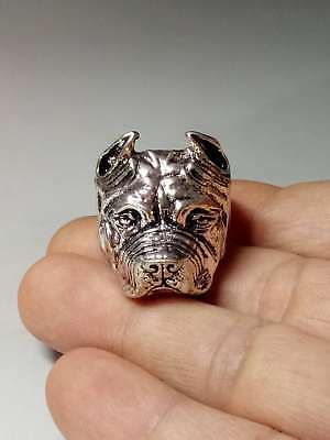 Chinese Collectable Tibet Silver Hand Carved Dog Ring   Z809