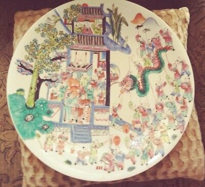 Nice Pair of Antique Chinese Porcelain high quality Plates - Marked and Numbered
