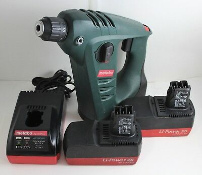 Metabo BHA 18 18-Volt Rotary Li-Power Hammer Drill with 2 Batteries and Charger